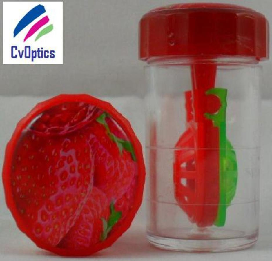 Strawberry Fruit Contact Lens Storage Soaking Barrel Case