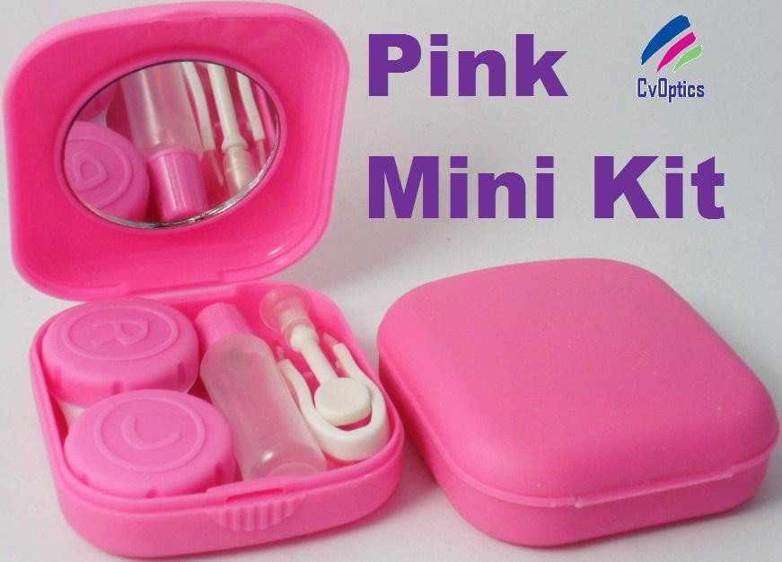 Pink Mini Contact Lenses Storage Lens Travel Kit
