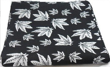 Black Cannabis Marijuana Leaf Bandana Head Scarf