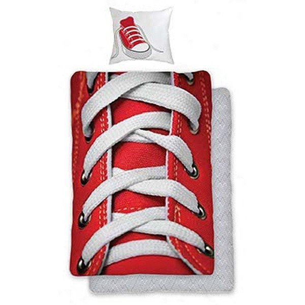 Shoelaces Red Single Duvet