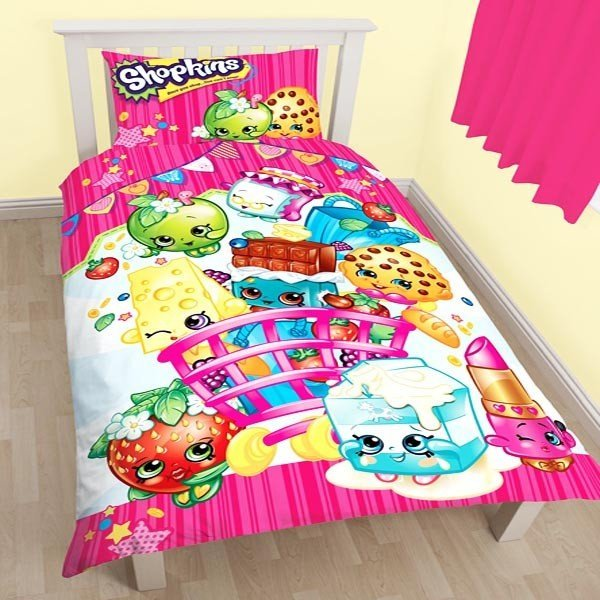 Shopkins Shopaholic Reversible Single Duvet