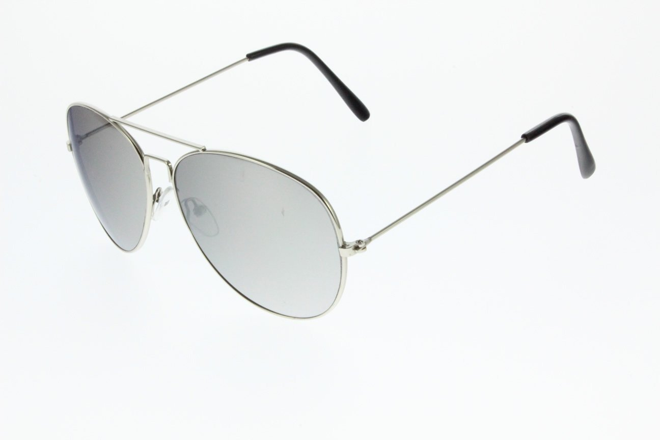 Unisex Silver Sunglasses With Metal Frame UV400 Protection a30063
