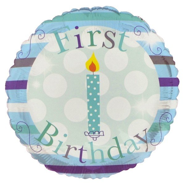 Simon Elvin 18 Inch Foil Balloon - 1st Birthday Boy