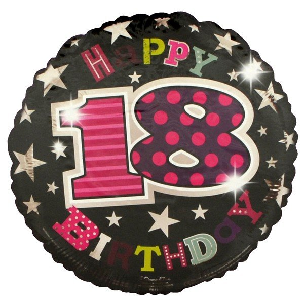 Simon Elvin 18 Inch Foil Balloon - Birthday 18th Female