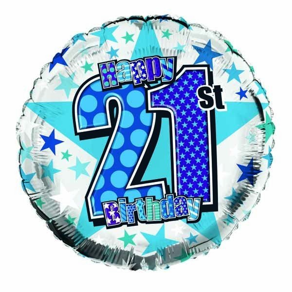 Simon Elvin 18 Inch Foil Balloon - Birthday 21st
