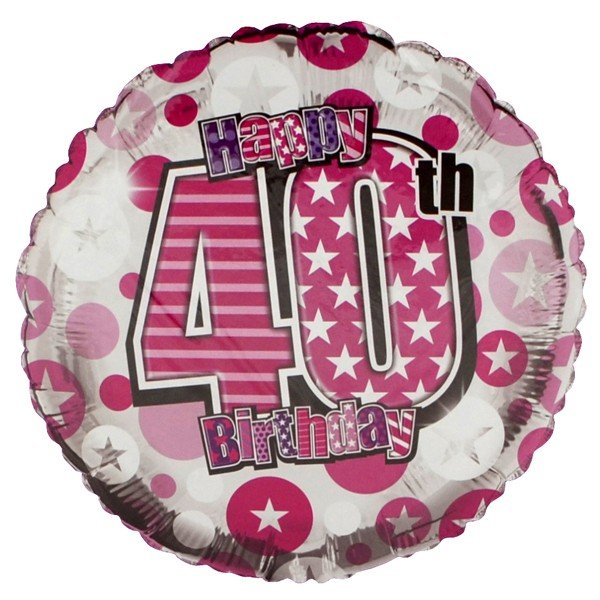 Simon Elvin 18 Inch Foil Balloon - Birthday 40th Female