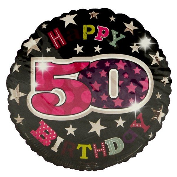 Simon Elvin 18 Inch Foil Balloon - Birthday 50th Female