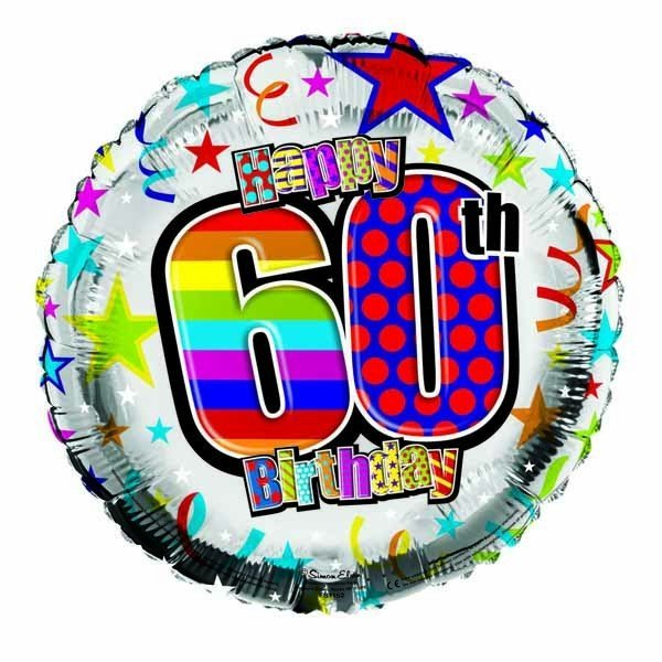 Simon Elvin 18 Inch Foil Balloon - Birthday 60th