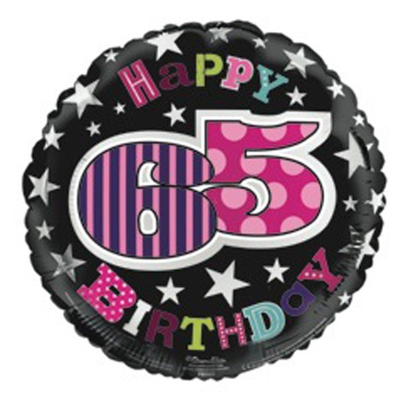 Simon Elvin 18 Inch Foil Balloon - Birthday 65th Female