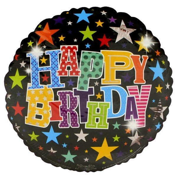 Simon Elvin 18 Inch Foil Balloon - Birthday Stars
