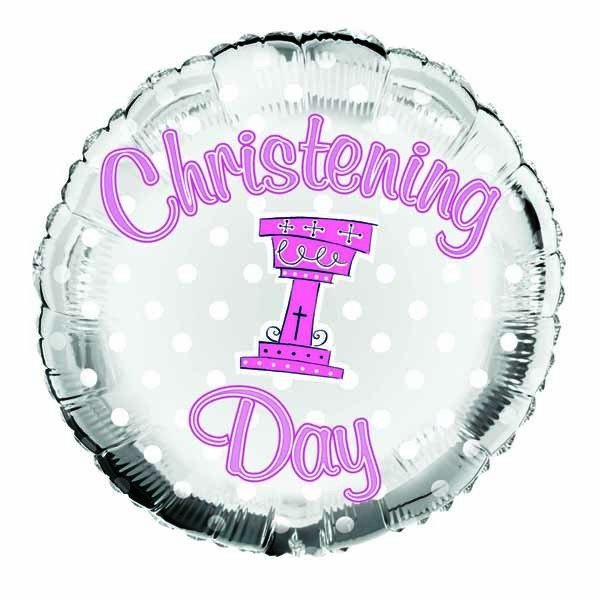 Simon Elvin 18 Inch Foil Balloon - Christening Girl