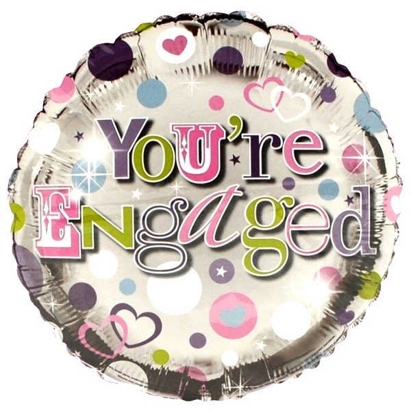 Simon Elvin 18 Inch Foil Balloon - Engaged