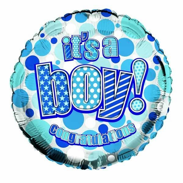 Simon Elvin 18 Inch Foil Balloon - Its a Boy