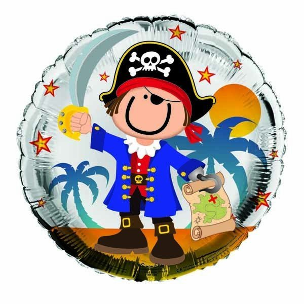 Simon Elvin 18 Inch Foil Balloon - Pirate