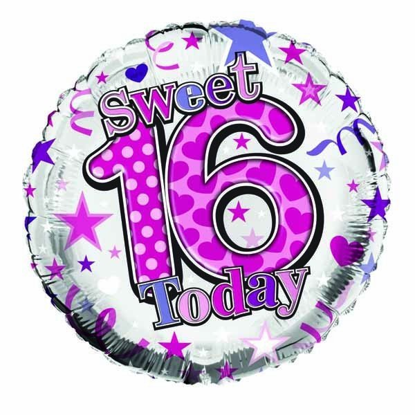 Simon Elvin 18 Inch Foil Balloon - Sweet 16