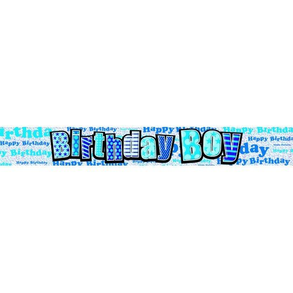 Simon Elvin Birthday Foil Banner - Boy