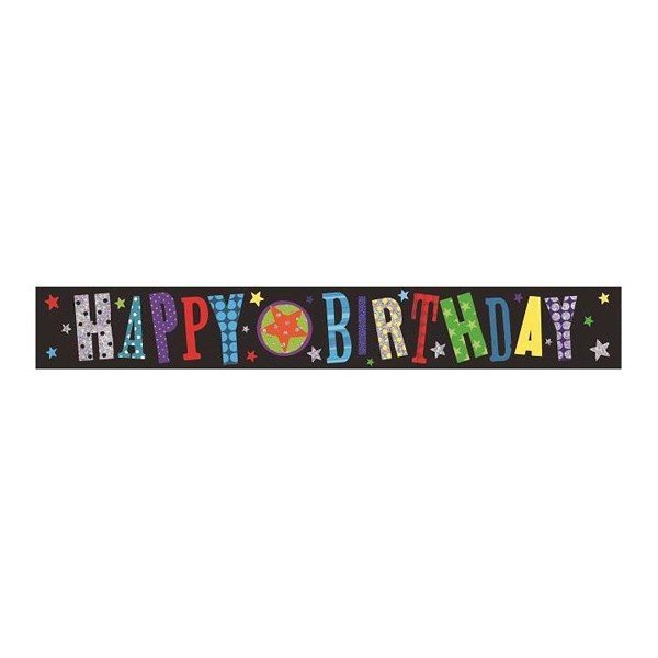 Simon Elvin Foil Banner - Birthday Design2