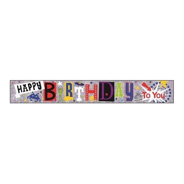 Simon Elvin Foil Banner - Birthday To You Boy