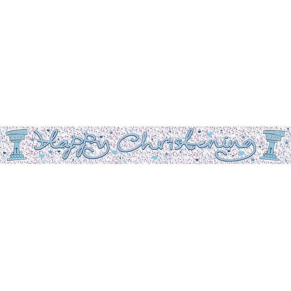 Simon Elvin Foil Banner - Boy Christening