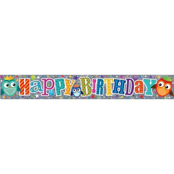 Simon Elvin Foil Banner - Happy Birthday