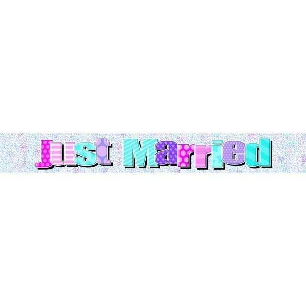 Simon Elvin Foil Banner - Just Married