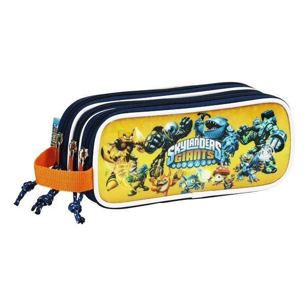 Skylanders Orange Triple Zipped Pencil Case