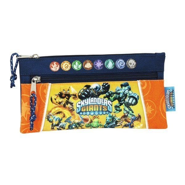 Skylanders Orange Two Zipper Pencil Case