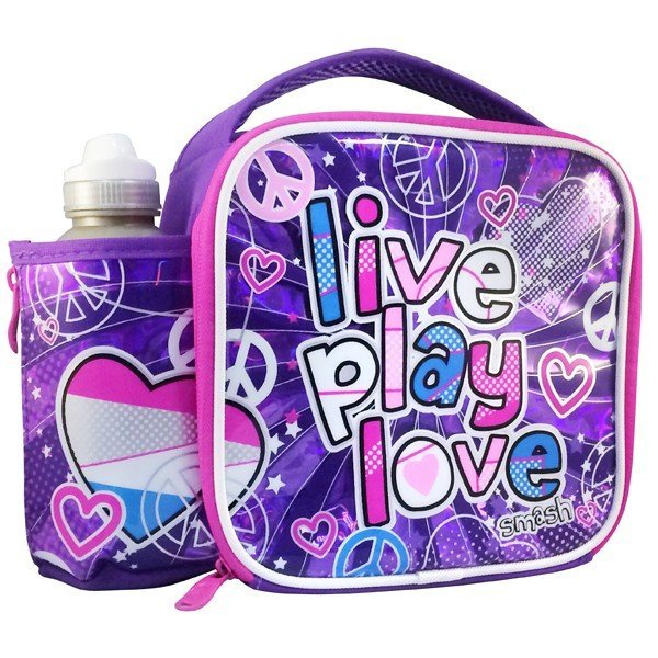 Smash Light Up Lunch Bag And Bottle Set