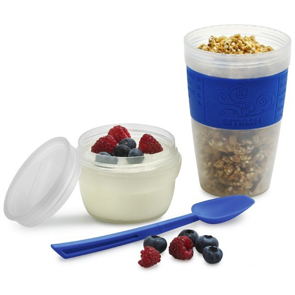 Smash Portable Breakfast Cup and Spoon Set