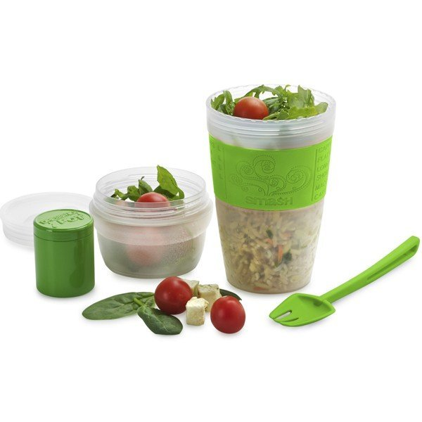 Smash Portable Salad Cup and Fork Set