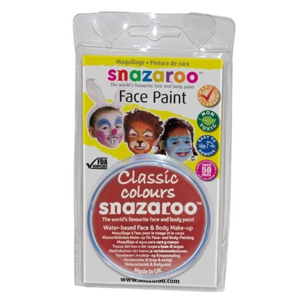 Snazaroo 18ml Face Paint - Bright Red