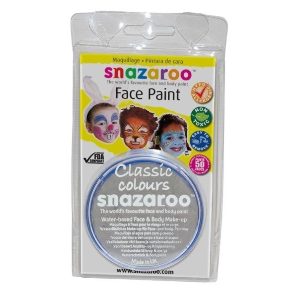 Snazaroo 18ml Face Paint - Light Grey