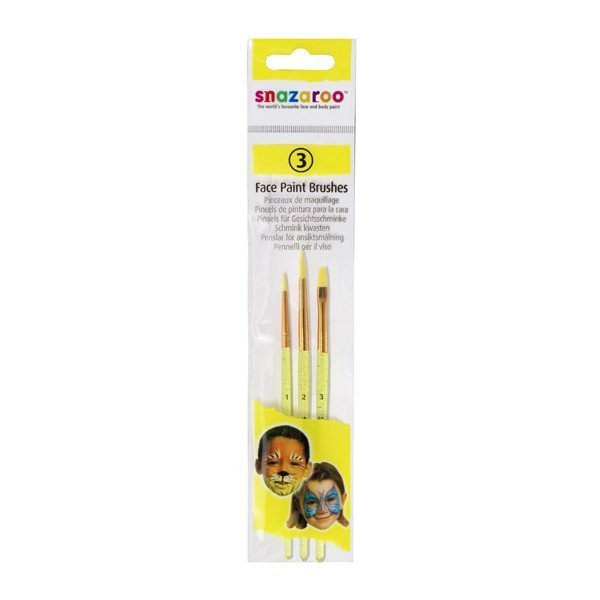 Snazaroo 3 Pack Fun Brush Set
