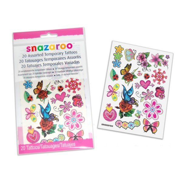 Snazaroo Assorted Temporary Tattoos - Girl