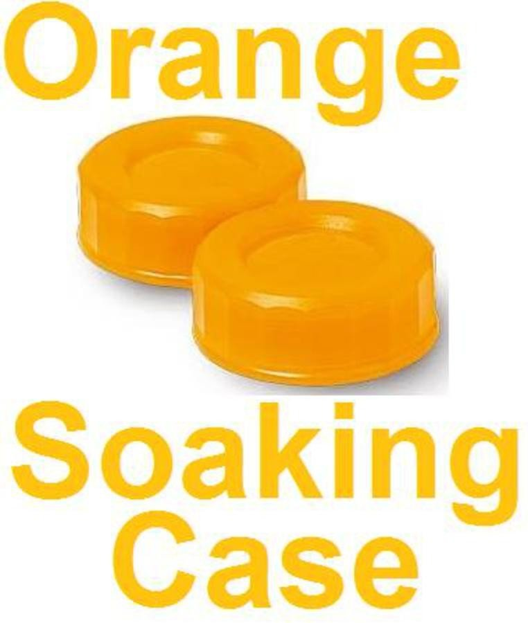 Neon Orange Contact Lens Soaking Case -Translucent Style