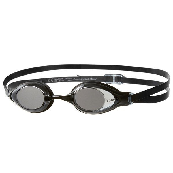 Speedo Adult Aquasocket Mirror Goggle - Black/Silver