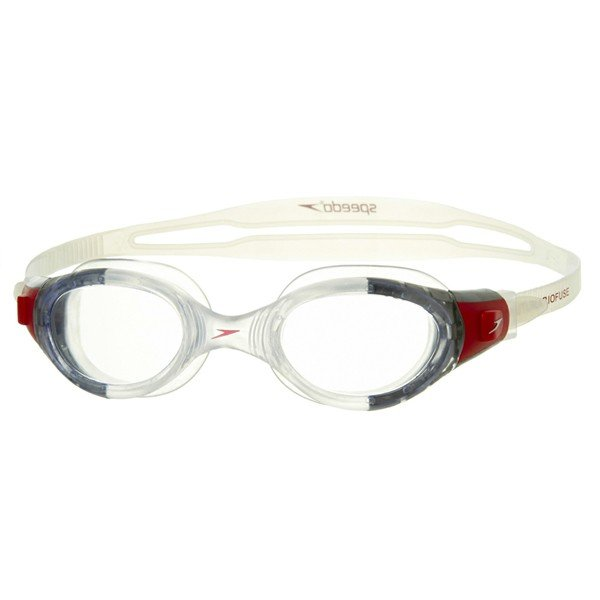 Speedo Adult Futura Biofuse Goggle - Clear/Red