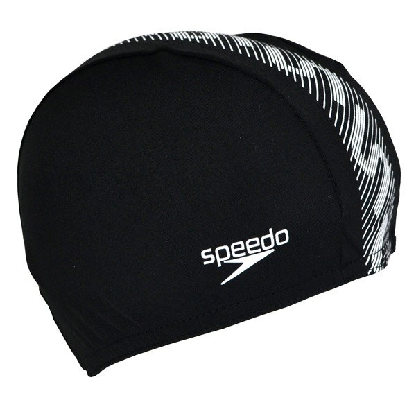Speedo Monogram Endurance Cap - Black/White