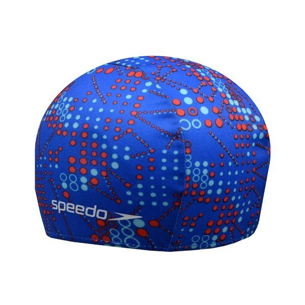 Speedo Polyester Printed Cap Blue- Junior