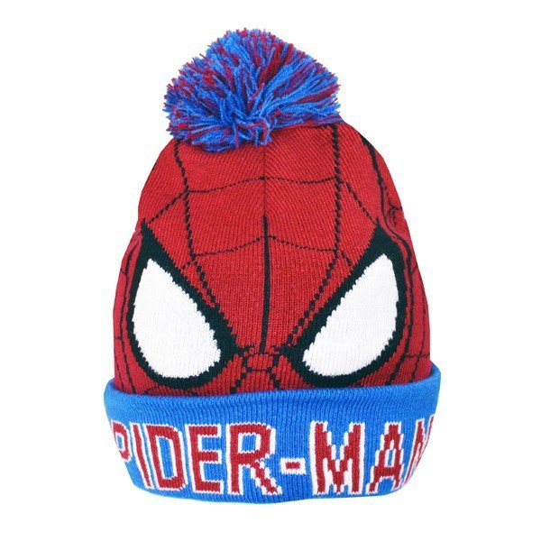 Spiderman Bobble Cuff Knitted Hat - Junior