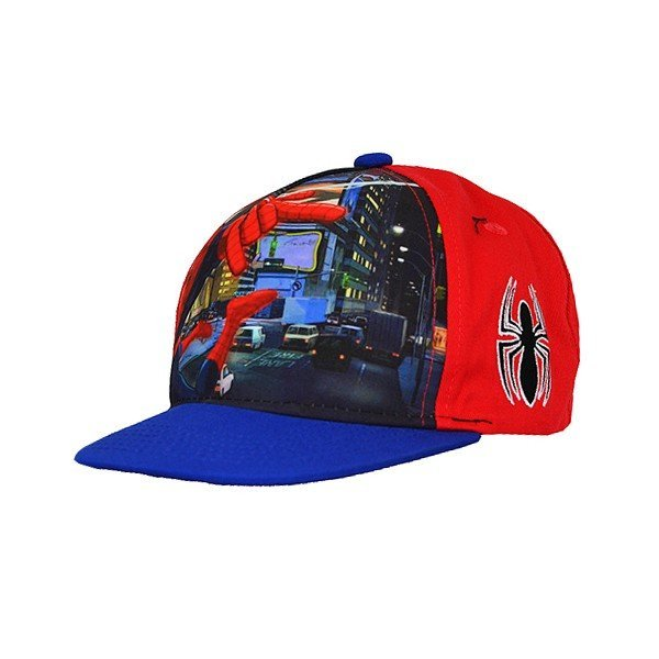 Spiderman Front Snap Back Cap Red - Junior