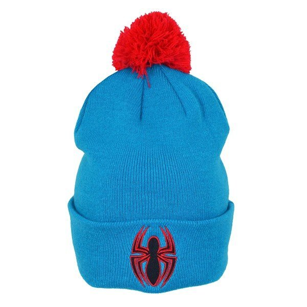 Spiderman Logo Bobble Cuff Knitted Hat - Adult