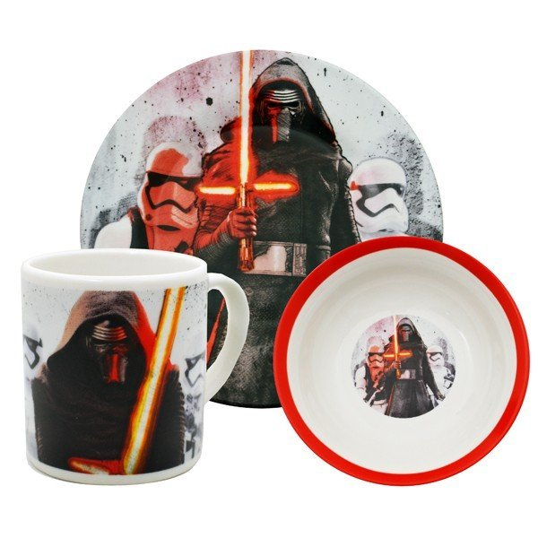 Star Wars Force Awakens 3PC Breakfast Set - Kylo Ren and Troopers