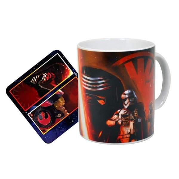 Star Wars Force Awakens Mixed Mug and Coaster Set