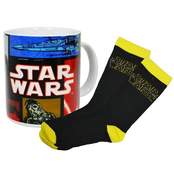 Star Wars Force Awakens Retro Mug and Sock Set
