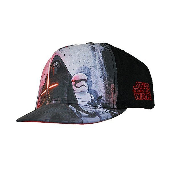 Star Wars Force Awakens Snap Back Cap Red/Black - Adult
