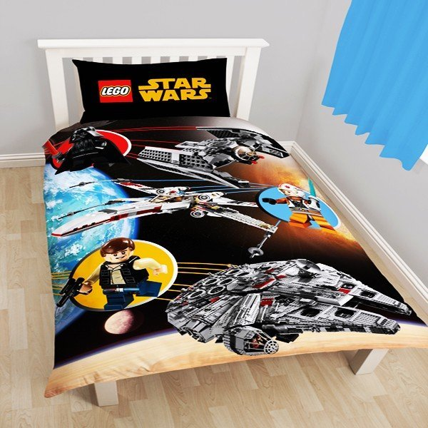 Star Wars Lego Space Reversible Single Duvet