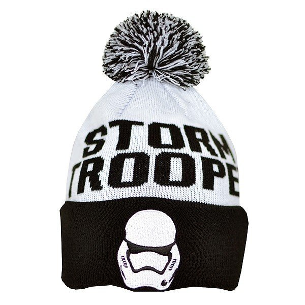 Star Wars Storm Trooper Bobble Cuff Knitted Hat - Adult