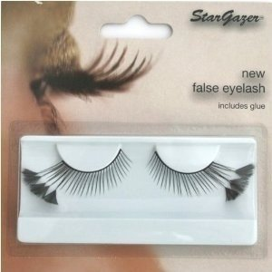 Stargazer Reusable False Eyelashes Black with Feathers 44