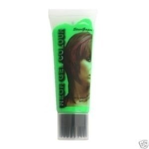 Stargazer Cosmetics Green UV Reactive Neon Hair Gel